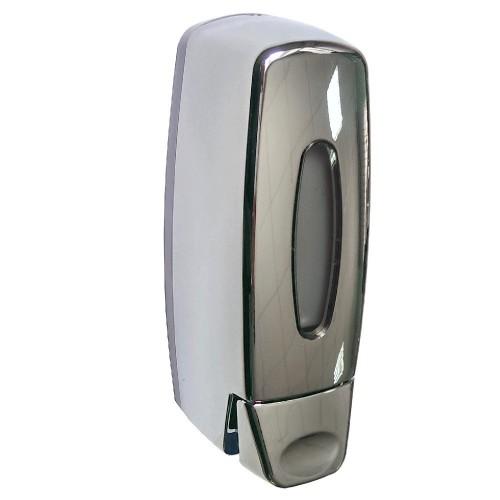Дозатор жидкого мыла BRIMIX 619 пластик хром 400мл.